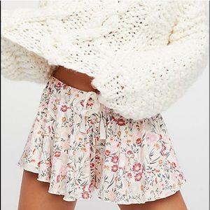 Free People Intimately Floral Shorts